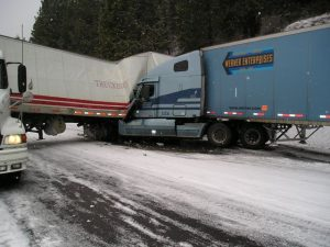 Truck Wreck Due to Ice